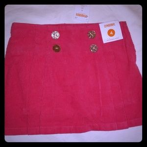 Gymboree corduroy skirt, girls size 4, NWT